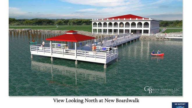 A large, wide boardwalk is part of the Lake Wichita Revitalization Committee three-part project for this, a boat ramp and veterans plaza. The city bond for May includes a proposal for $3,915,000 for shoreline projects for Lake Wichita.