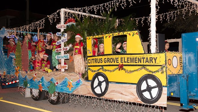 Citrus Grove Elementary took home the Illuminations Award winner for the small float category.