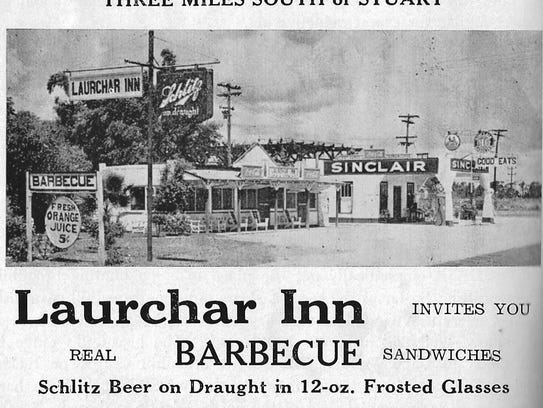 Laurchar Inn advertisement 1941 in local fishing guide.