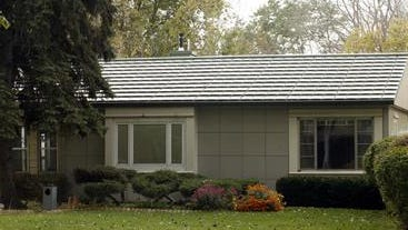 An example of a Lustron house. The houses were built across the country to house World War II veterans and their families.