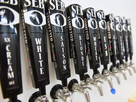 Taps of craft beer are available Tuesday, Sept. 12,