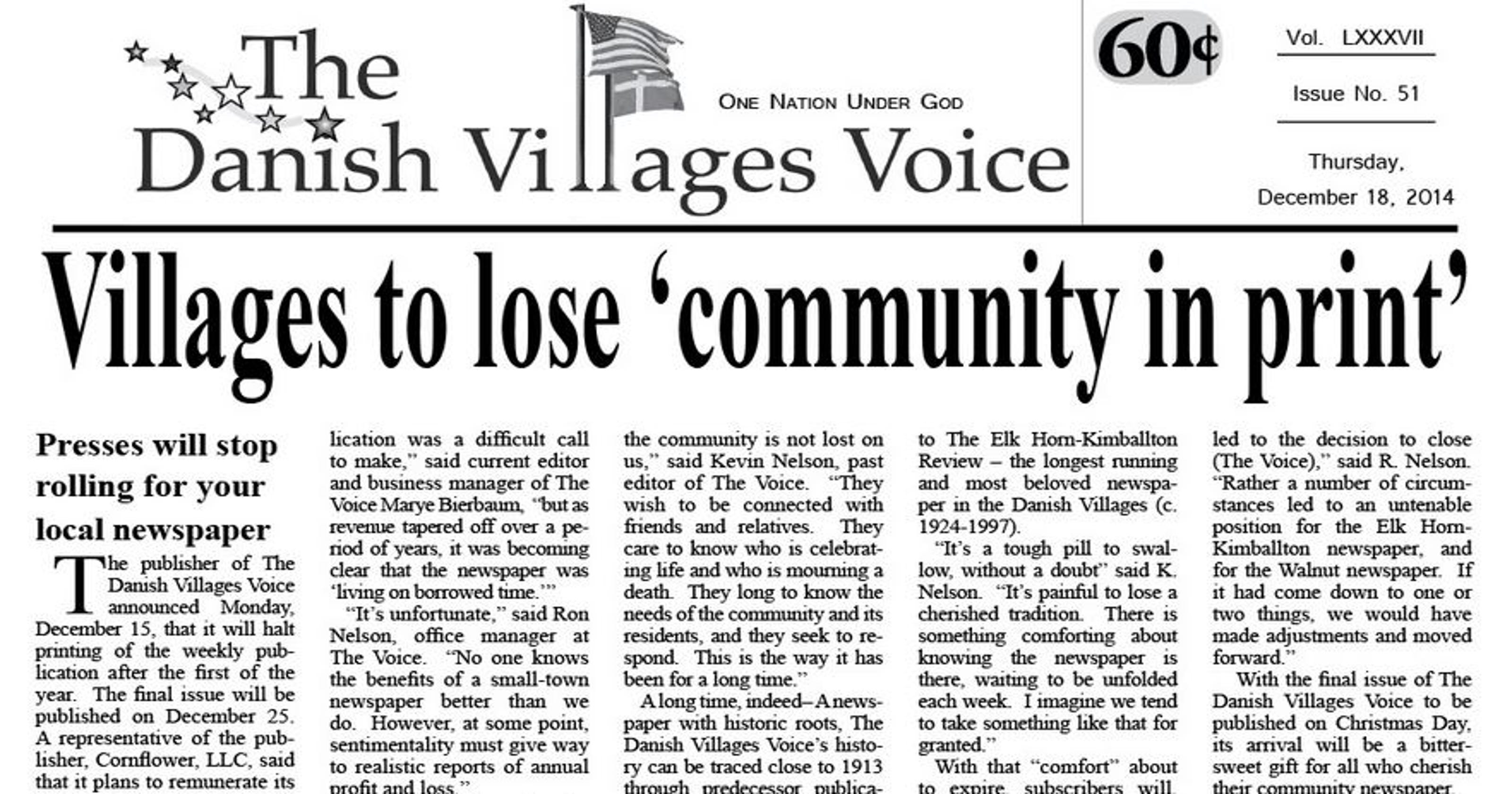 Munson: Pastor turns digital publisher to save small-town news