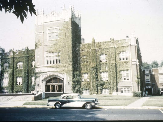 Ball Gymnasium is shown during the 1950s.