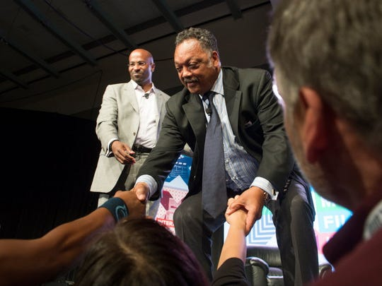 Jesse Jackson, founder and president of the Rainbow