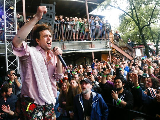 On March 21, 2015, Edward Sharpe and the Magnetic Zeros perform at the Rachael Ray Feedback Party during the SXSW Music Festival in Austin, Texas.