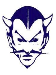 The famous Blue Devil mascot of Sault Area Schools.