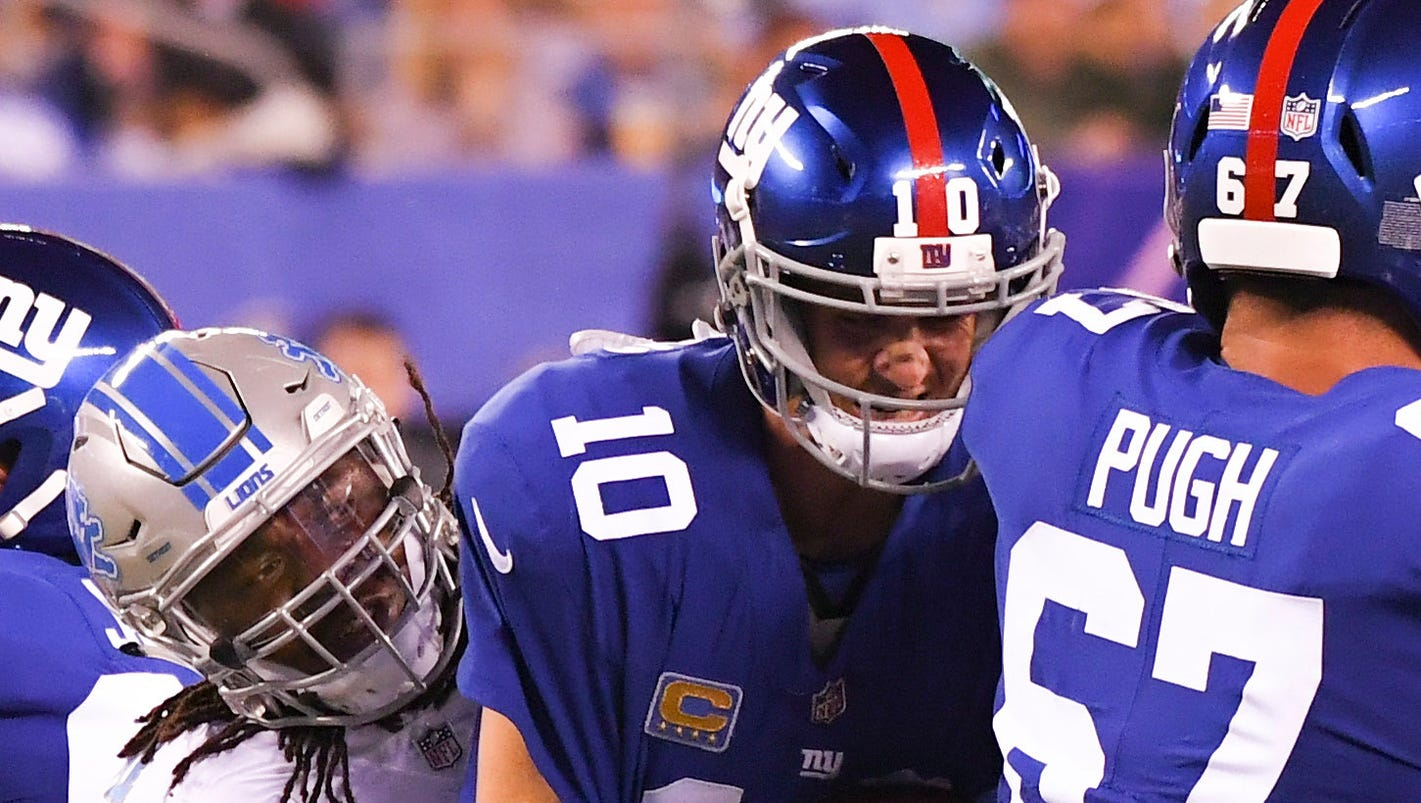 Eli Manning 2017 Stats >> Giants' Ben McAdoo mulls 'drastic' changes, may surrender play calling