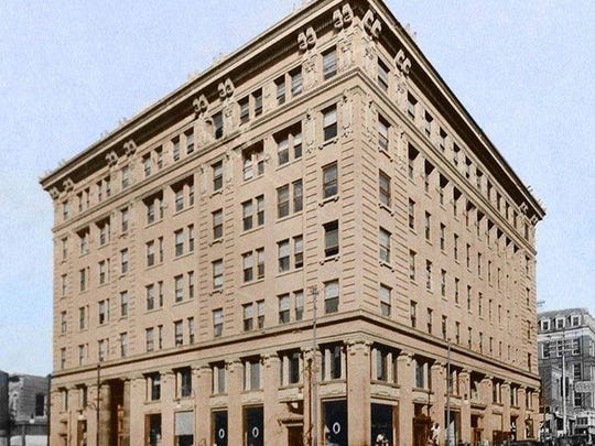 The former American Furniture building in 1915, when it was a bank. The 95-year-old building was designed by Henry Trost, an iconic El Paso architect.