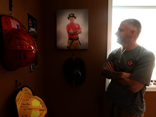 Jason Baker, a Great Falls firefighter, is battling
