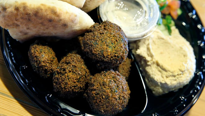 A falafel plate at Sabra Grill contains plenty of pulses.