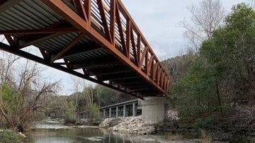 A bridge is part of the new segment of trail that starts at Chisholm Trail and Round Rock Avenue in Round Rock.