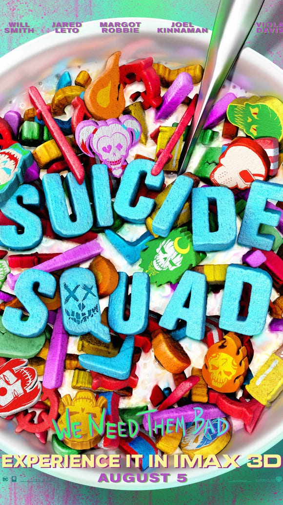 """The IMAX """"Suicide Squad"""" poster is pretty sweet."""