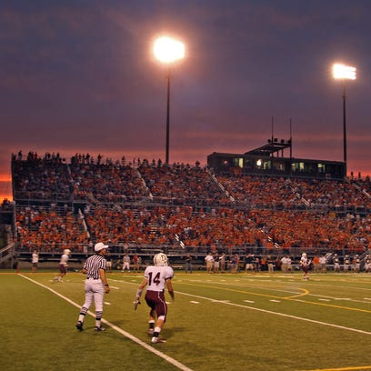 The scene of the Dowling-Valley football game at Valley