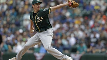 Oakland starting pitcher Chris Bassitt gave up one unearned run on three hits, struck out four and walked five against Seattle on Sunday.