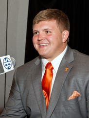 Tennessee offensive lineman Mack Crowder