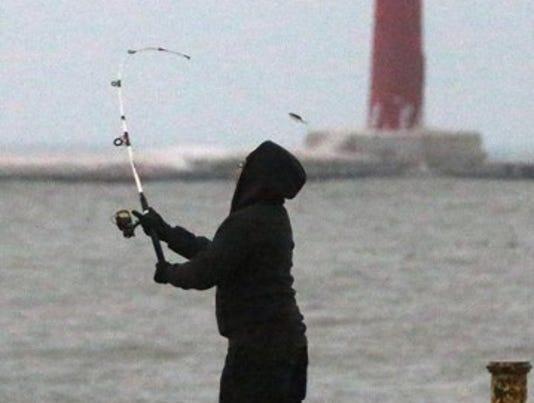 Fishing in Lake Michigan