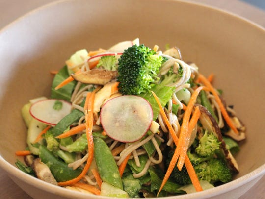 Kale and Clover Mindful Kitchen's Thai noodle salad