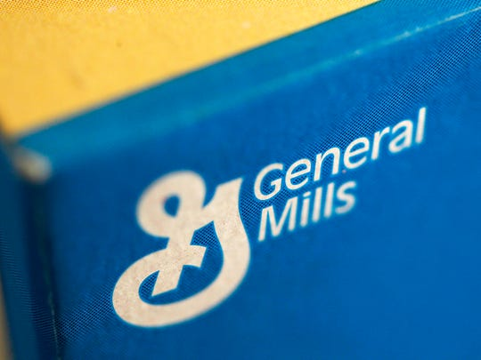 FILE - This Tuesday, Sept. 20, 2011, file photo shows a box of General Mills' Fiber One cereal, in Philadelphia. On Wednesday, March 23, 2016, General Mills Inc. reports financial results. (AP Photo/Matt Rourke, File)