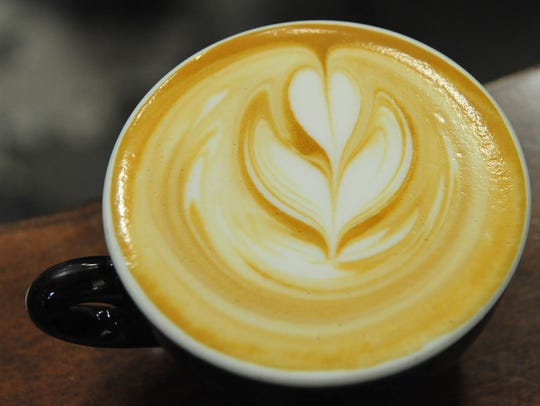 Beauty in a cup: a cappuccino poured by Mark Trujillo,