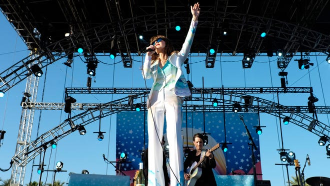 Jenny Lewis performs at last year's Coachella Valley Music & Arts Festival in Indio, California.