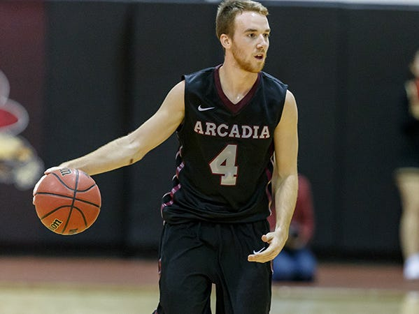 Arcadia's Ryan Kelley scored a career-high 33 points in the team's win over Misericordia.