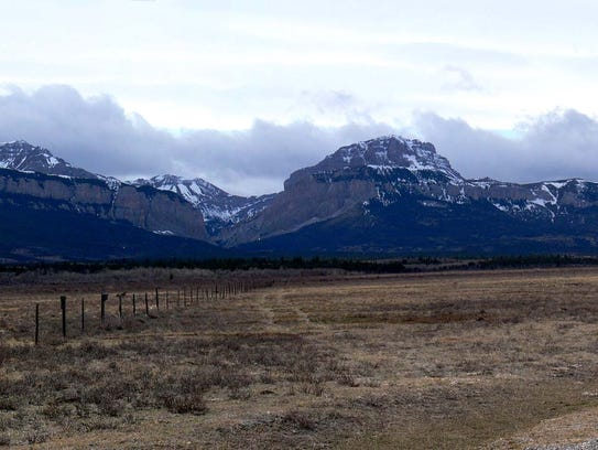 Blackleaf Teton County. View west from the former site