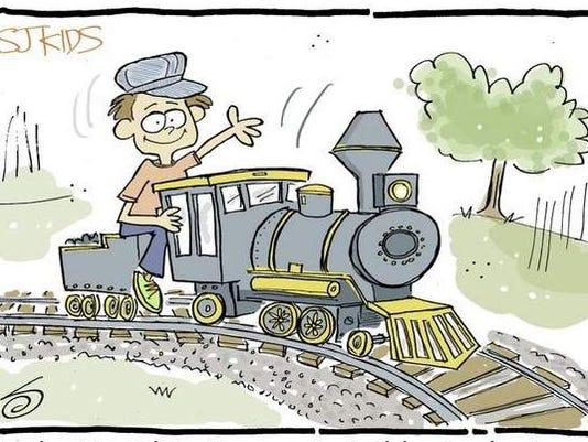 'I learned how to drive a train,' Tristan Loop, Grade 1, Livingstone Academy