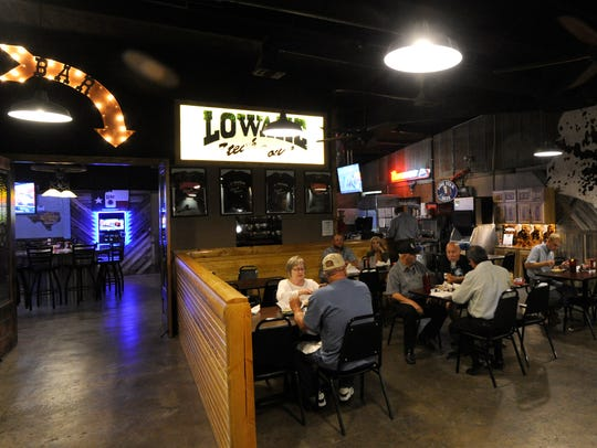The main dining room at the new Lowake Steak House