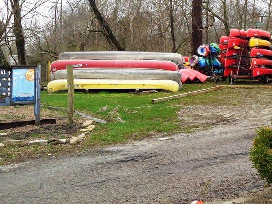 A lot of Loveland Canoe & Kayak equipment was still