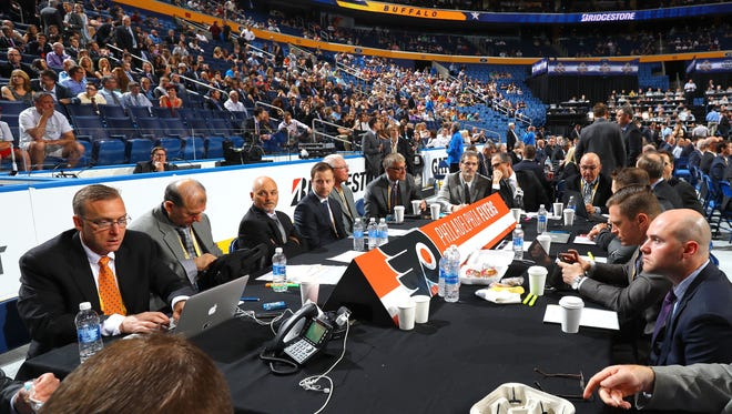 The Flyers have two first-round picks heading into the draft in Dallas later this month, but they may not use both.