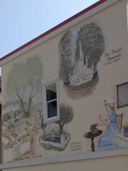 The back section of the mural in Somers Point painted