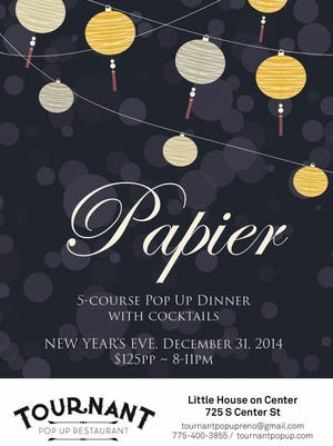 Tournant is holding its Papier pop-up restaurant on New Year's Eve.