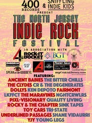 The flyer and lineup for the North Jersey Indie Rock Festival
