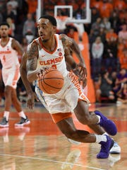Clemson guard Marcquise Reed (2) plays against North