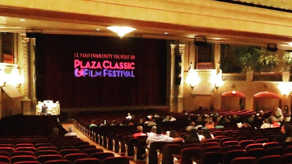 "Festivalgoers enjoy the sounds of the Mighty Wurlitzer Organ before a screening of Alfred Hitchcock's ""Notorious"" during Day 1 of the Plaza Classic Film Festival in 2016 at the Plaza Theatre in Downtown."