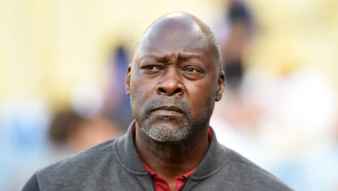 Apr 13, 2016: Arizona Diamondbacks general manager Dave Stewart before a MLB game against the Los Angeles Dodgers at Dodger Stadium.