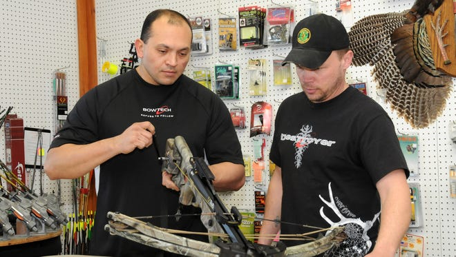 Crossbows that can be cocked with a crank are popular with women and youngsters, who might struggle to manually cock high-poundage models.