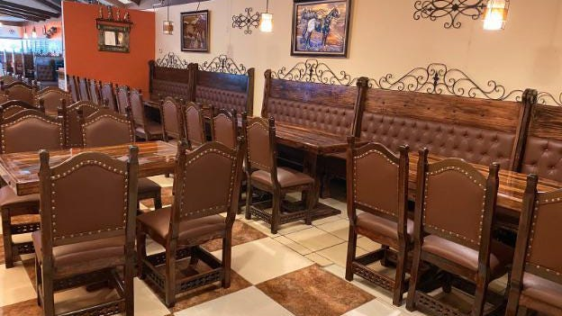 A remodeled dining area features plenty of space and interesting views for customers at the new Los Cabos restaurant in Pratt.