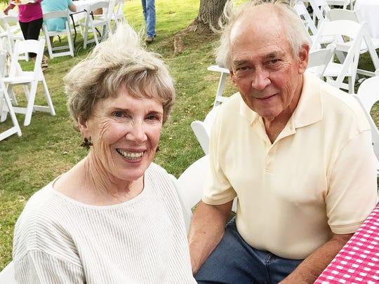 Judy and Dr. Bill McColgan at celebration of the life