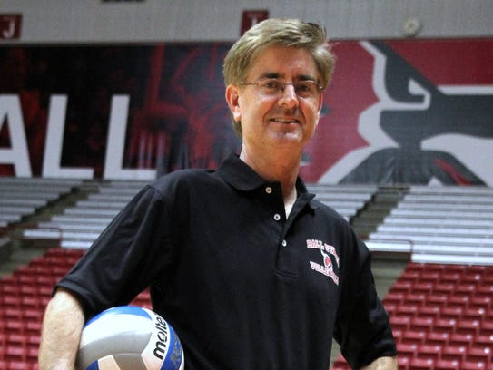 Steve Shondell poses for a portrait at Ball State's