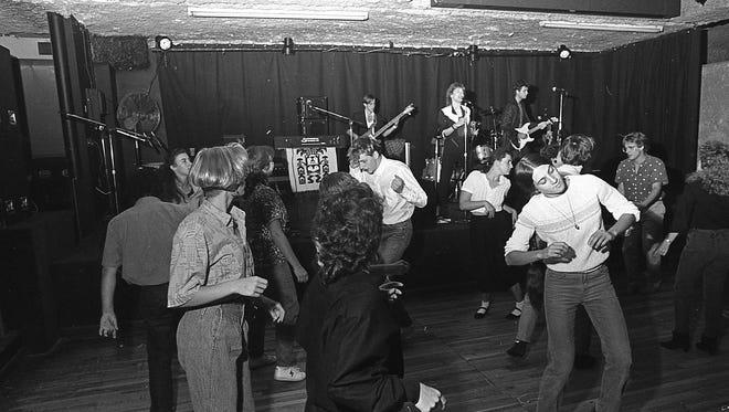 Dancing at the Silver Dollar Saloon, 1985.