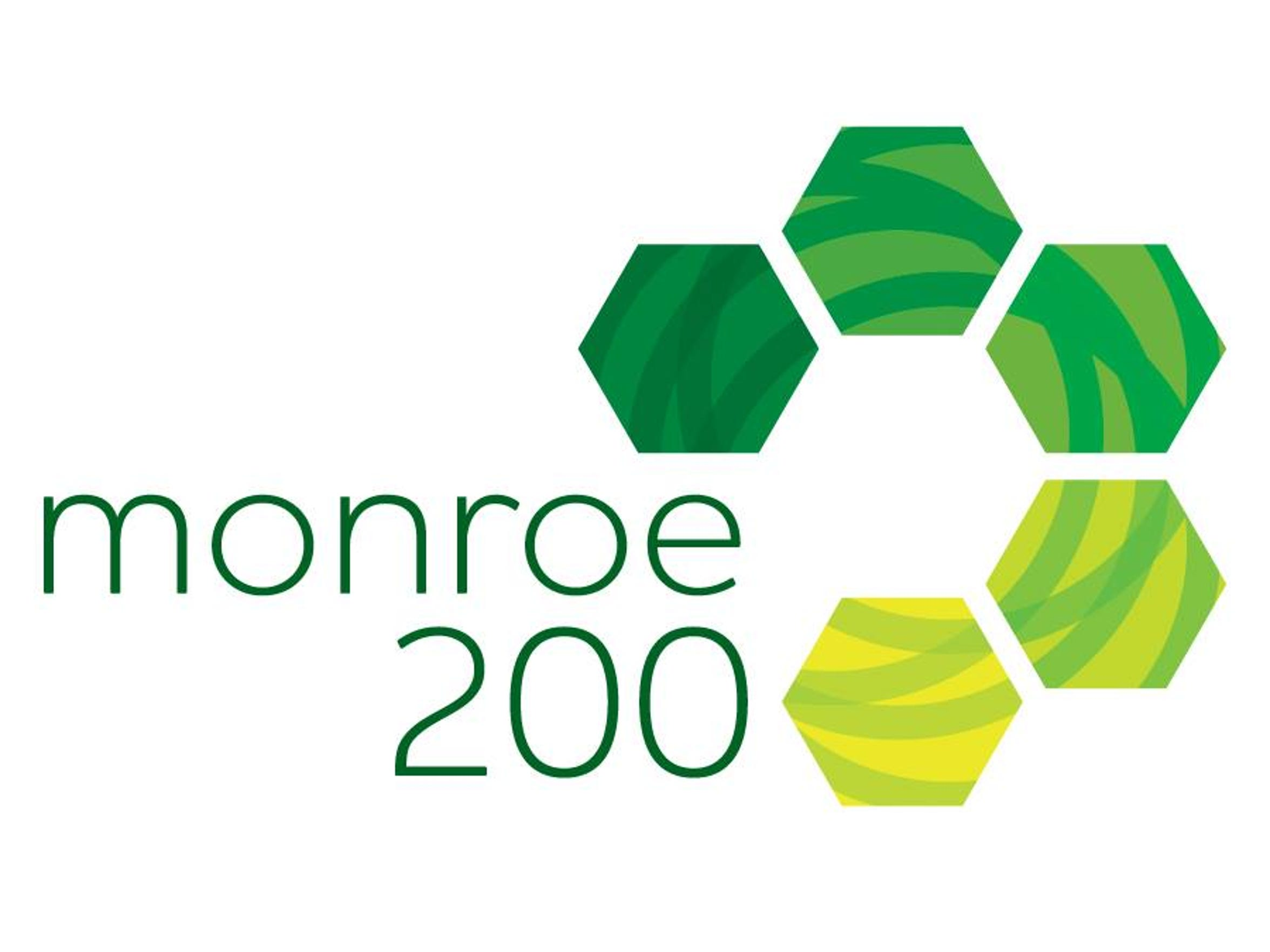 The logo for Monroe County's Monroe200 initiative to