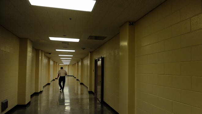 STAR FILE PHOTO A hallway in Ventura County's Todd Road jail.