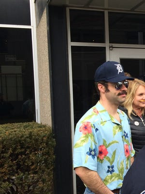Royal Oak Police Officer Keith Bierenga was fully immersed in Mustache March, even sporting the Detroit hat and Hawaiian shirt made famous by Tom Selleck in Magnum P.I.