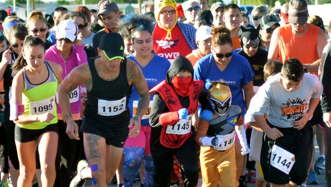 The second annual Monster Run was held Saturday morning at Field of Dreams and runners were encouraged to dress up for the event.