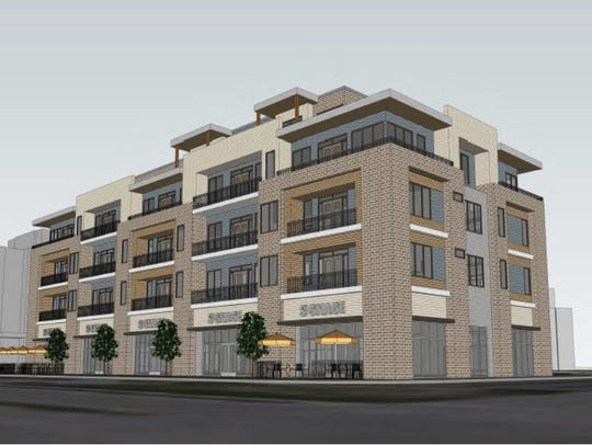The proposed apartments will feature retail space,