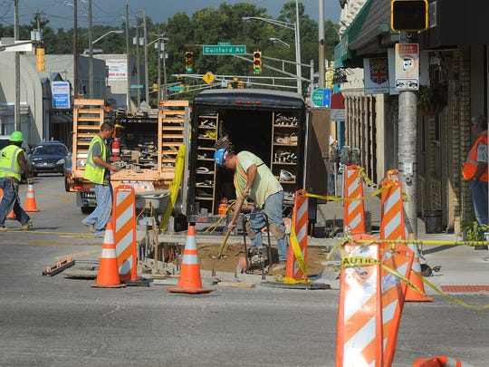Construction crews have completed some Broad Ripple street improvements, but more work still needs to be done.