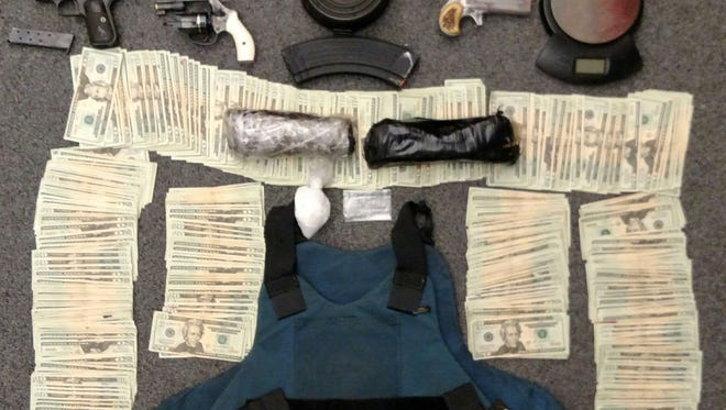 Items seized during a Butler County drug investigation