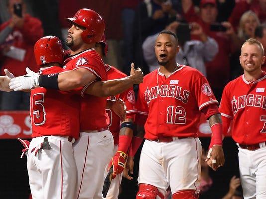USP MLB: MINNESOTA TWINS AT LOS ANGELES ANGELS S BBA LAA MIN USA CA
