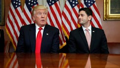 President-elect Donald Trump meets with U.S. House